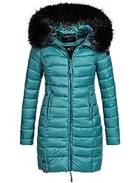 Marikoo ROSE-110 Damen Mantel Jacke Steppjacke Winterjacke lang gesteppt  Übergang XS-XXL 12 2cc22c60eb