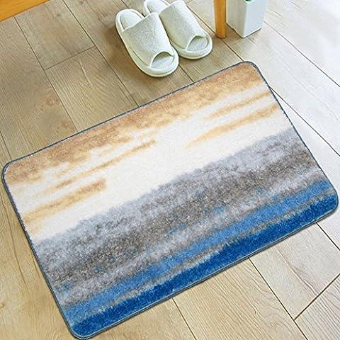 MOREY Cuarto de baño Alfombra antideslizante Cojín de cocina de colchón absorbente de agua Colchón largo de colchón Puerta sanitaria ( Tamaño : Azul )