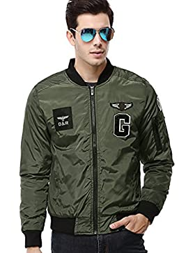 AYG Hombre Aviador Chaqueta Flight Jacket Cazadora Biker M-3XL