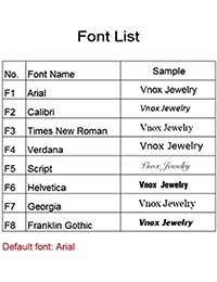 Vnox Grabado Personalizado Enlace personalizado para la joyería grabada
