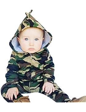 Igemy Säugling Neugeboren Baby Jungen Mädchen Camouflage Hooded Spielanzug Jumpsuit Kleidung Outfit