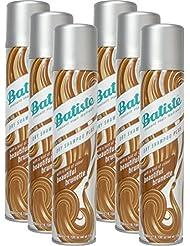 Batiste Shampooing sec Dry Shampoing Beautiful Brunette avec une touche de couleur pour cheveux brünettes cheveux frais, pour tous les types de cheveux, pack de 6x 200ml)