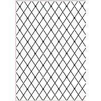 Darice 3605-002 - Carpetas de estampación, plantilla entrecruzado, 29,7 x 21 x 0,3 cm, color transparente