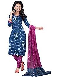 MEGHALYA Women's Satin Cotton Dress Material (Morpich Cotton Dress-4061)