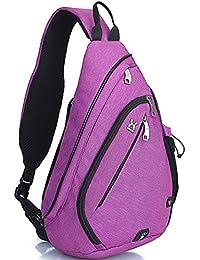 FreeMaster - Mochila cruzada para el hombro, tamaño pequeño, color morado, tamaño 18.7H x 11.8W x 5.1T inch (47 x 30 x 13cm), volumen liters 19