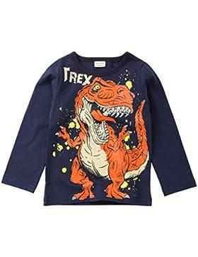 Lindo Camiseta de Niños, Sonnena Patrón de Dinosaurios Ropa de Verano Manga Larga y Corta Camiseta con Casual...