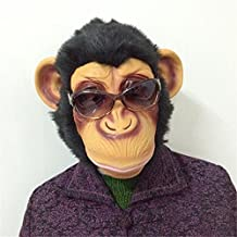 Víspera de Todos los Santos Party 1 Pcs Monkey Mask Funny Adult Animal Costume Head Fancy