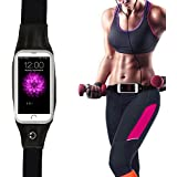 """Iceberg Makers.in FIT BELT All Weather Touch Screen Fitness Gym Running Belt Cycling Travel Waist Pack Suitable For All Mobile Phones. (Black, 5.5""""- Adjustable 25""""-40"""")"""