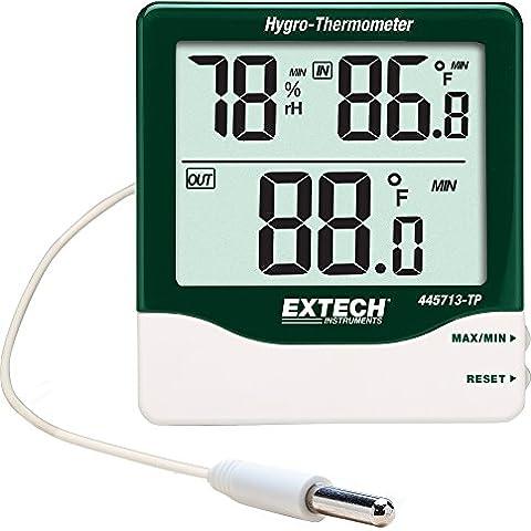 Extech Instruments 445713 Big Digit Hygro TP per interni/esterni, con