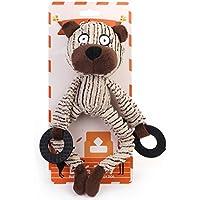 "chiwava Pet Squeak perro interactivo de peluche Toy 9.6""Familia de peluches con muelle cuerda cachorro Tug Jugar"