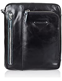 Piquadro Bolso pequeño, dos bolsillos frontales, bolsillo para lector de mp3 y porta iPad/iPad®Air negro Blue Square CA1816B2/N