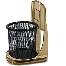 Ducomi® Jordan–Portalápices con forma de canasta de baloncesto–Porta bolígrafos y lápices a tema Baloncesto (17x 10x 12cm)
