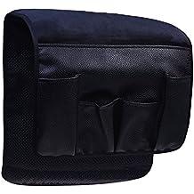 wommty negro terciopelo sofá sofá silla reposabrazos suave Caddy organizador soporte para mando a distancia, teléfono celular, libros, revistas, lápiz
