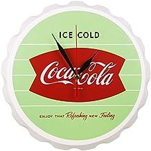 Retro Coca Cola Wooden Fishtail Design Bottle Cap Wall Clock