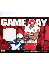Topps Football 2011 NFL Trading Cards Game Day Relic Jersey Card Dwayne Bowe