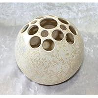 Kugelvase Steckvase Keramik Handarbeit 11 cm