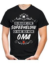 Ich brauche keine Superheldin T-Shirt | Großmutter | Held | Hero | Freundschaft | Geburtstags | Männer | Herren | Geschenk | Fun | Oma