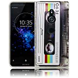 Sony Xperia XZ2 Kassette Retro Handy-Hülle Silikon - staubdicht, stoßfest & leicht - Smartphone-Case thematys® Sony Xperia XZ2