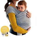Fascia Porta Bebè BabyChoice Elastica per Bambino,Marsupio Fascia Neonato Porta Bambino. Cotone di QualitàMorbido e Confortevole. Con Bavaglini Regalo e Box in Omaggio