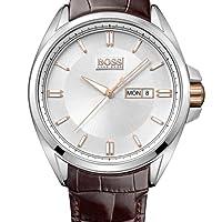 Hugo Boss 1512876 - Reloj analógico de cuarzo para hombre con correa de piel, color marrón de Hugo Boss