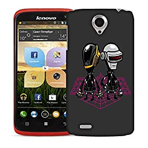 Snoogg Pair Of Robots Designer Protective Back Case Cover For LENOVO S820