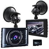 """Podofo Auto-Kamera 3.0 """"LTPS Volles HD 1080p 170 ° Weitwinkel-Auto DVR Schlag-Nocken-Zink-Legierungs-Metallkörper WDR-Träger-Videogerät, 32GB TF-Karte eingeschlossen"""