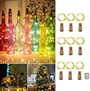 Bottle Lights with Cork, 9pcs Wine Bottle Lights, LED String Lights, with Screwdriver Battery Operated Wine Co