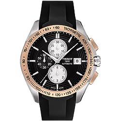 Tissot Men's Veloci-T Automatic Chronograph Watch Black