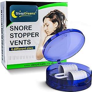 SleepDreamz® Schnarchen Stopper! Hochentwickelte Anti Schnarch schnarchstopper, was hilft gegen schnarchen, schweres Atmen, Schlafapnoe & Verstopfte Nase – 4 Größen.