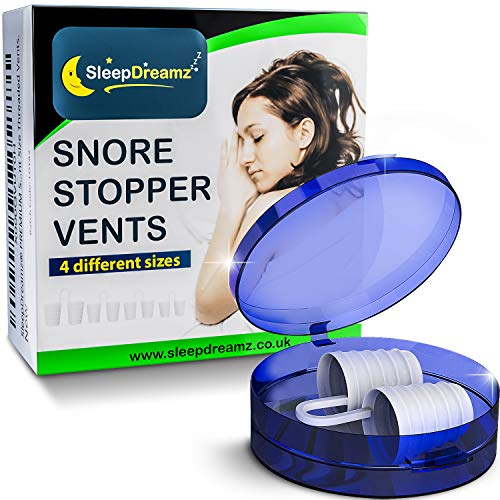 SleepDreamz® Schnarchen Stopper! Hochentwickelte Anti Schnarch schnarchstopper, was hilft gegen schnarchen, schweres Atmen, Schlafapnoe & Verstopfte Nase - 4 Größen.
