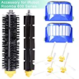 YOMEKOLY Accessory for iRobot Roomba 600 610 620 630 645 650 655 500 595 Series Vacuum Cleaner Replacement Part Kit Includes 2 Pack Filter, Side Brush, Bristle Brush and Flexible Beater Brush
