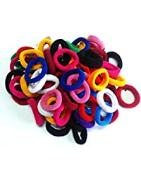 Shop & Shoppee Pack Of Small Size Soft & Colourful Hair Bands Rubber Band (100 Pcs) (Multicolor)