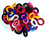 #3: Shop & Shoppee Pack of Small size soft & colourful hair bands Rubber Band (100 pcs) (Multicolor)
