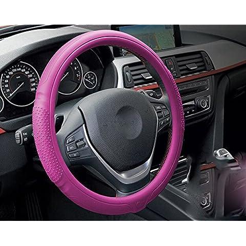 EarthSafe® Copertura del volante dell'automobile, universale antiscivolo in silicone del gel di silice Auto volante copertura 38cm / 15