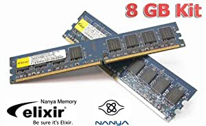 Elixir 8GB DDR3 Dual Channel Arbeitsspeicher (2x 4GB RAM Kit, 1333 MHz, PC -10600)