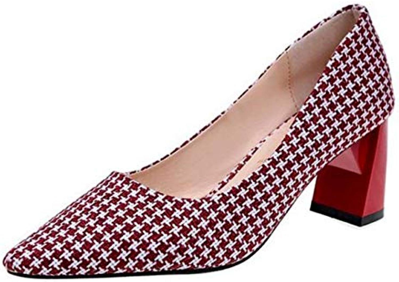 Eeayyygch Escarpins à Bretelles pour en Tissu à Bout Pointu pour Bretelles Femmes (coloré : Rouge, Taille : 3 UK)B07K8FN649Parent 6d5fe0