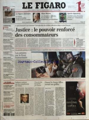 FIGARO (LE) [No 18793] du 06/01/2005 - LE FIGARO LITTERAIRE - LE RETOUR AU GRAND GALOP D'ALEXANDRE LE GRAND - ABOU MAZEN - LES CHANTIERS DIFFICILES DU CANDIDAT A LA PRESIDENCE PALESTINIENNE - SPORTS EQUESTRES - LA FEDERATION FRANCAISE PROCHE DE L'ECLATEMENT - DOSSIER - LES SOLDATS DE LA VIE PAR CHARLES LAMBROSCHINI - SUISSE - UN ENTRETIEN AVEC CHRISTOPH BLOCHER - MULHOUSE - LES CONDUITES DE GAZ EN CAUSE - UN AVOCAT A LA BARRE AU PROCES DES ECOUTES - LE SUCCES DES CRECHES D'ENTREPRISE - LE GRAND