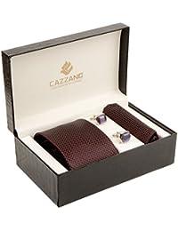 Cazzano Checkered Men's Tie Set (TCPNC129)