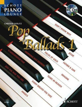 Music Greensleeves Piano Sheet (Schott Piano Lounge: POP BALLADS Band 1 (+CD) mit Bleistift -- 16 bekannte Pop-Balladen u.a. von ERIC CLAPTON und CAT STEVENS in klangvollen, mittelschweren Arrangements für Klavier von Carsten Gerlitz (Noten / sheet music))
