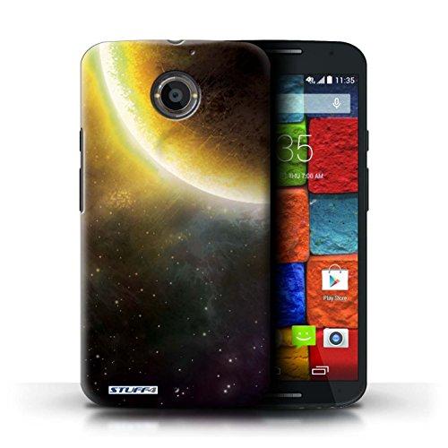 Kobalt® Imprimé Etui / Coque pour Motorola Moto X (2014) / Planète Jaune conception / Série Cosmos Éclipse Jaune