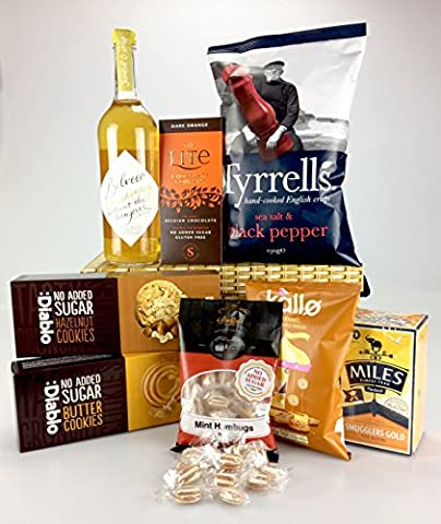 Deluxe Large Diabetic HAMPER Box No Added Sugar - Chardonnay! Any Occasion personalise