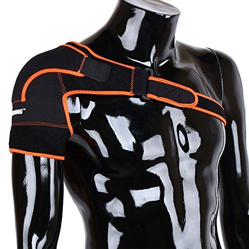 Dilwe Schulterstütze, Kompression Atmungsaktiver Oberarm und Schulterwickel für Vorbeugung und Erholung von Rotatorenmanschetten