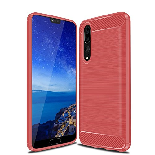 Huawei P20 Pro Coque, Cruzerlite Carbon Fiber Shock Absorption Slim Case for Huawei P20 Pro