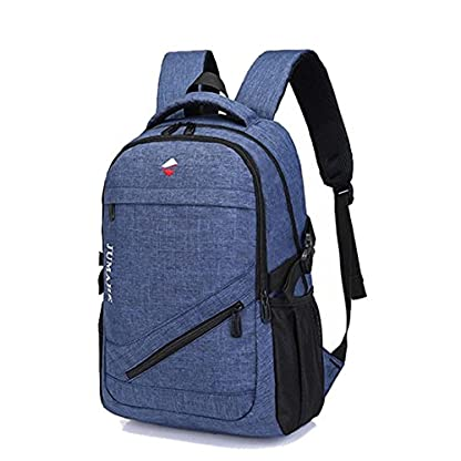 Maod Color sólido Juveniles Mochila portatil Ligera Mochilas Escolares Lienzo Grande Bolsa de Escuela 15.6 Pulgada (Negro)