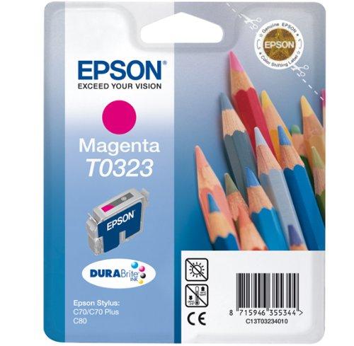 Preisvergleich Produktbild Epson T0323 Tintenpatrone Buntstifte, Singlepack, magenta