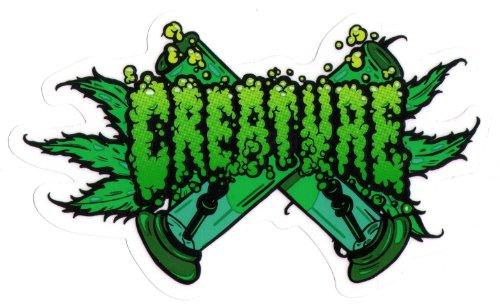 Creature Skateboard-Sticker - OG Kush Bong Weed Cannabis Marihuana Rauchen (Weed Bong Für Das Rauchen Von Marihuana)