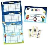 bebon Töpfchen-Training Belohnungs-Programm - mehrfarbige Stern-Aufkleber - motivierendes Toiletten-Training für Kleinkinder – ideal für Jungen und Mädchen
