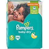 Pampers Baby Dry taille 5,11–23 kg Big Bag, Lot de 2 (2 x 46 pièces)