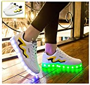 Led Light Up Sneakers, Women's Men's LED Lights Up ShoesUSB Rechargeable Flashing Trainers Low-top Sne