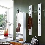 Germania Garderoben-Set »COLORADO131« Hochglanz weiß - Schuhschrank mit Spiegel-Front + 2x Garderobenpaneel mit ausklappbaren Kleiderhaken